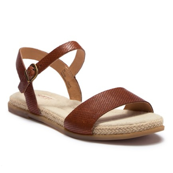 e3ad7563ca2e Born Welch Brown Leather Ankle Strap Flat Sandal 8